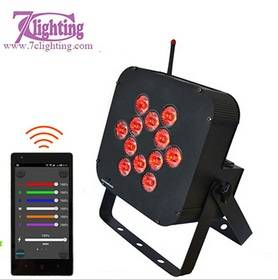 12 RGBWA+UV Battery DMX 2.4GHz WiFi LED Par Light