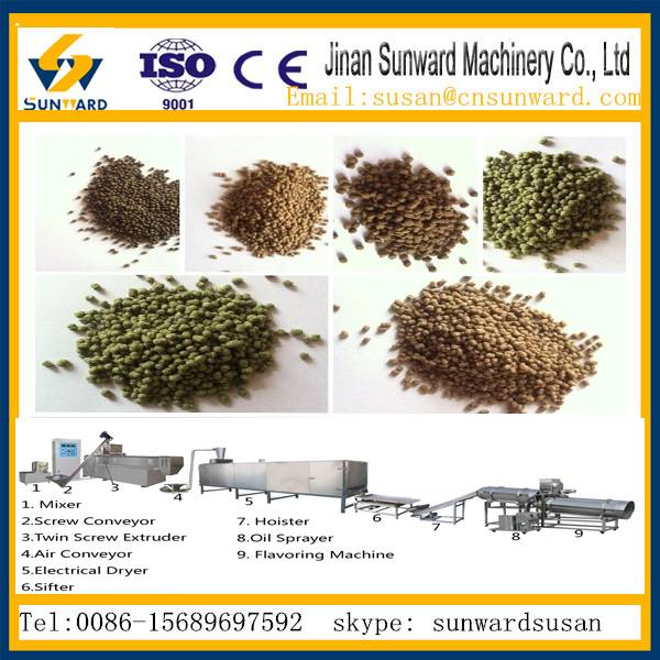 CE  fully automatic  floating fish feed processing line