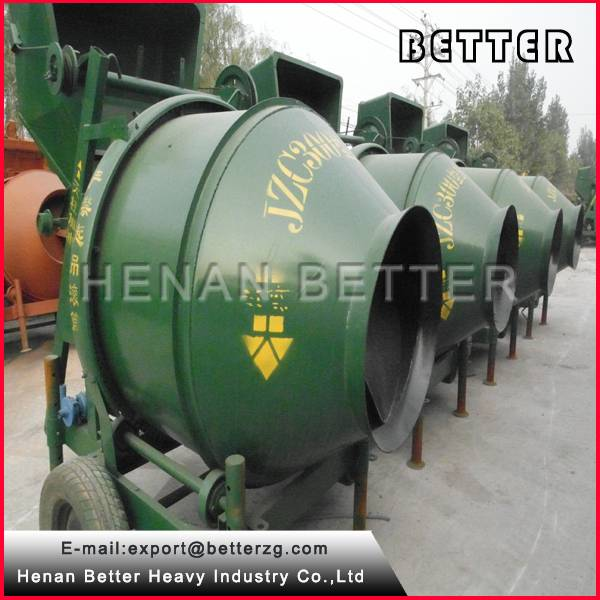 portable diesel concrete mixer standard 350L for convenient use