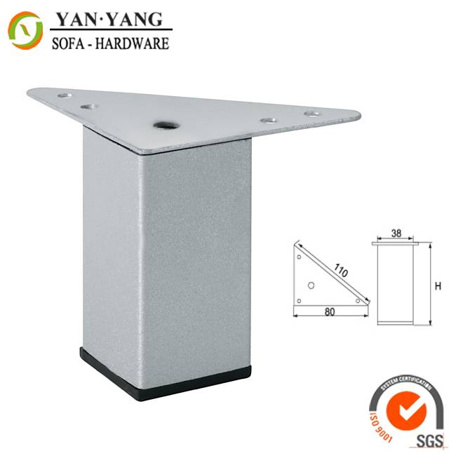 strong support furniture legs square shape silver color modern metal sofa leg table leg