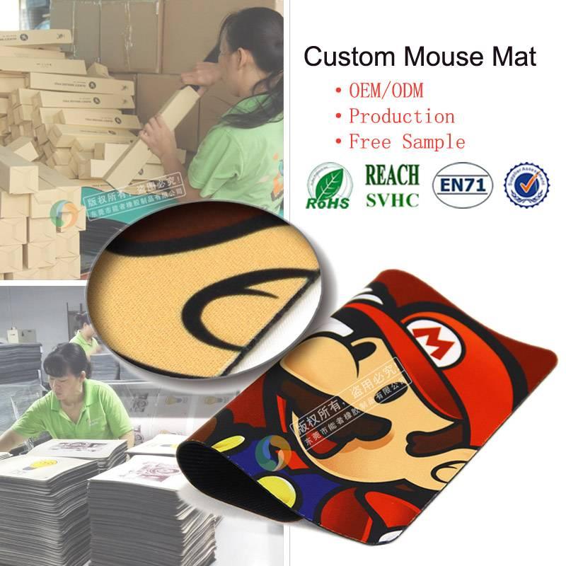 Super Mario Bros net bar custom waterproof gaming mouse pad