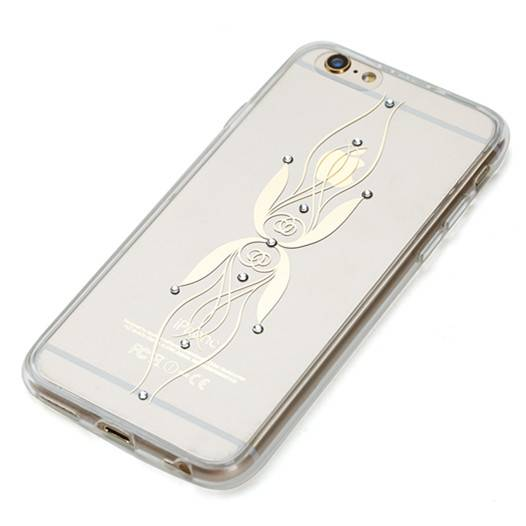 Diamond decorated wholesale TPU mobile phone cover