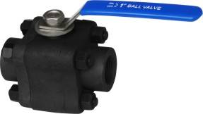 Three-Pieces Type Forged Floating Ball Valve (F304 F316 A105)