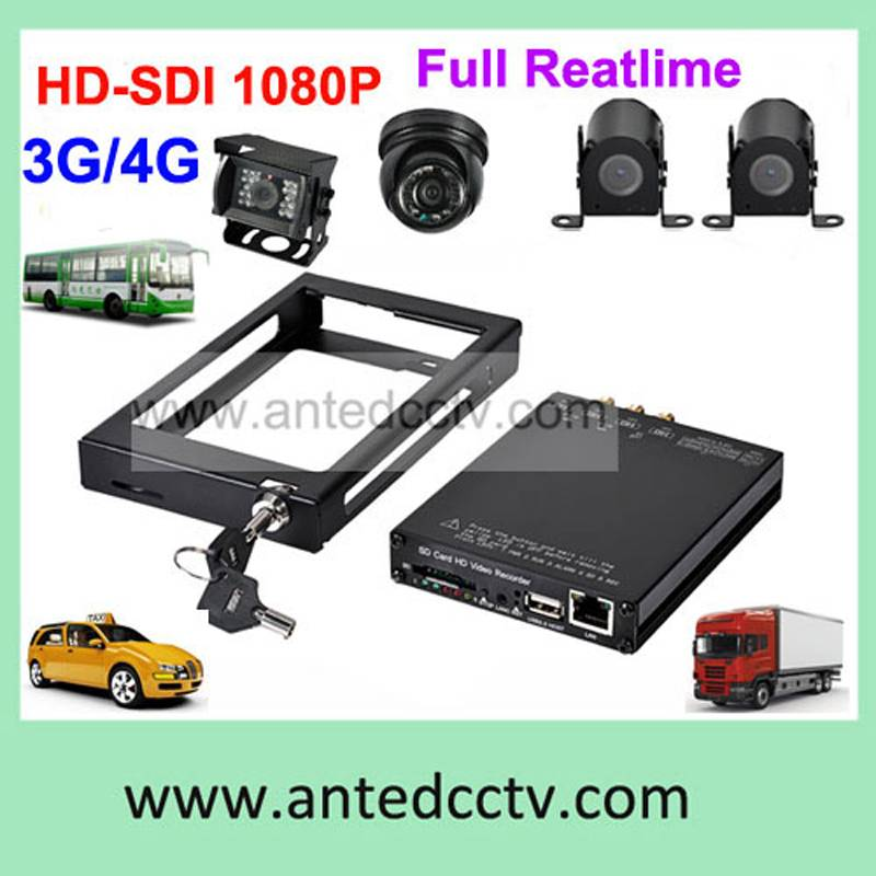 4 channels MDVR with 3G GPS G-sensor WiFi mobile dvr with 1080p camera
