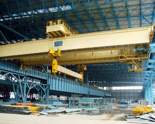 Double girder hanging beam overhead crane