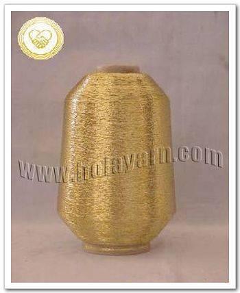 MX-type gold metallic yarn