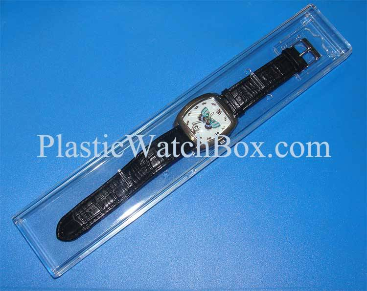 Transparent Long Shap Box For Watch Sale