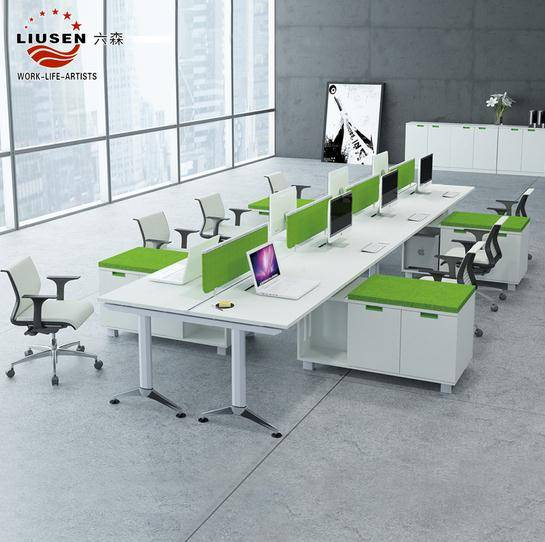 Eco-friendly office workstation for 4 people and Executive Screen Desk 2800*1200mm (LS-BG-0205)