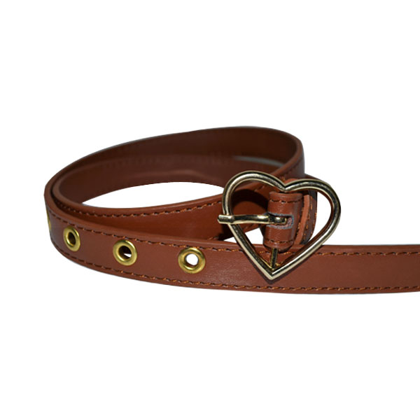 Ladies Belt with Designer Heart Shape Buckle [JB17168-1-WB]