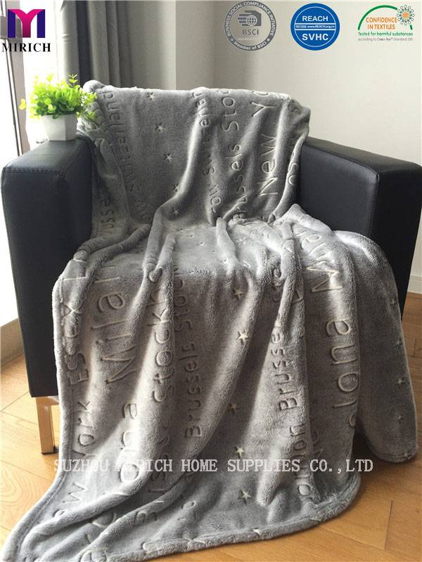 Luminous Soft Flannel Fleece Blanket with Burnout Designs