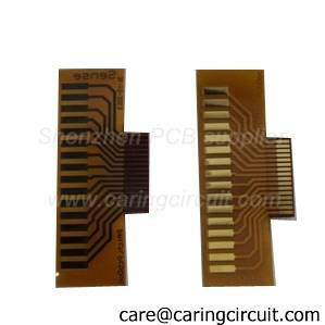 polymide pi flexible pcbs with gold connectors supplier