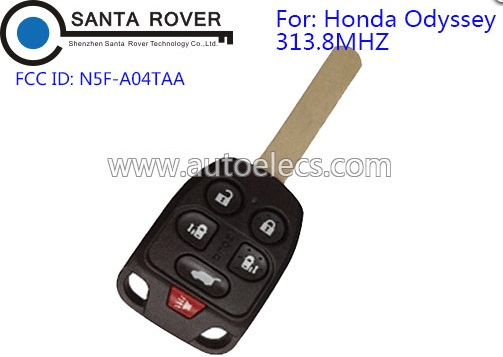 Remote Control Key For Honda Odyssey fit 5+1 Button 313.8Mhz