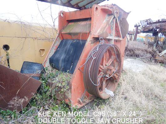 "KEMCO KUE KEN TYPE MODEL C95 (36"" x 24"") DOUBLE TOGGLE JAW CRUSHER"