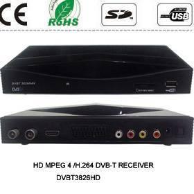Professional factory supply DVB-T, HD Mpeg4/H.264 DVB-T Receiver, HDMI, TV Tuner, DVBT3826HD