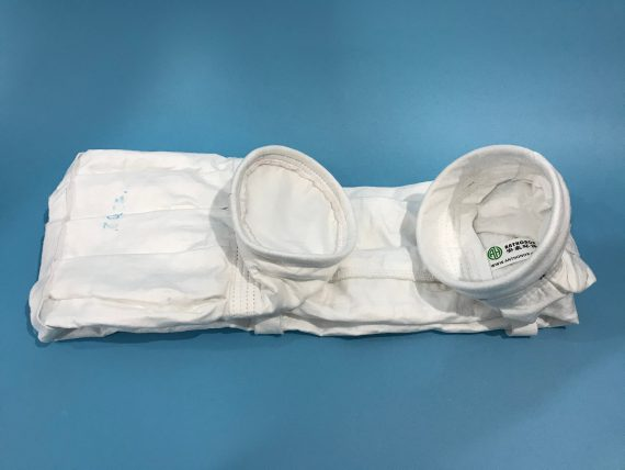 High filtration efficiency low emission Pleated Star filter bag for extreme condition industry