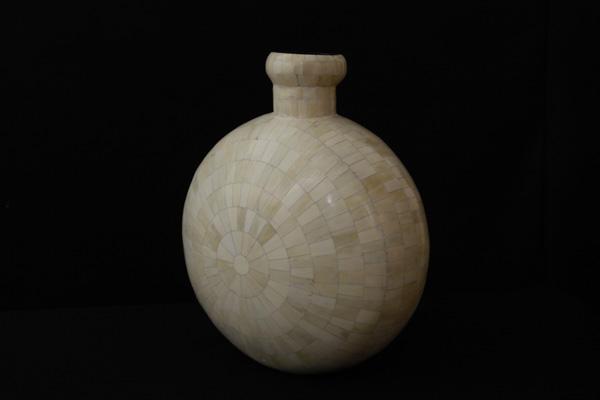 Bone Decorative Crafted Flower Pot Set