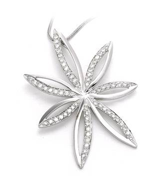 Cheap Price flower shape Brass CZ pendant for women and fashion girls