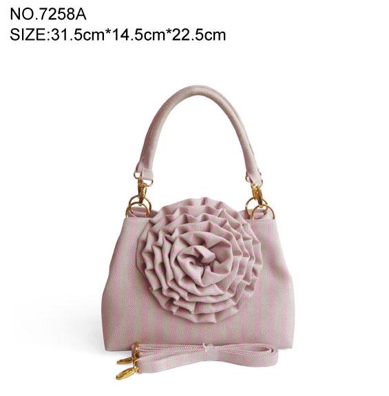 trendy Women's Unique Canvas Flower Handbag
