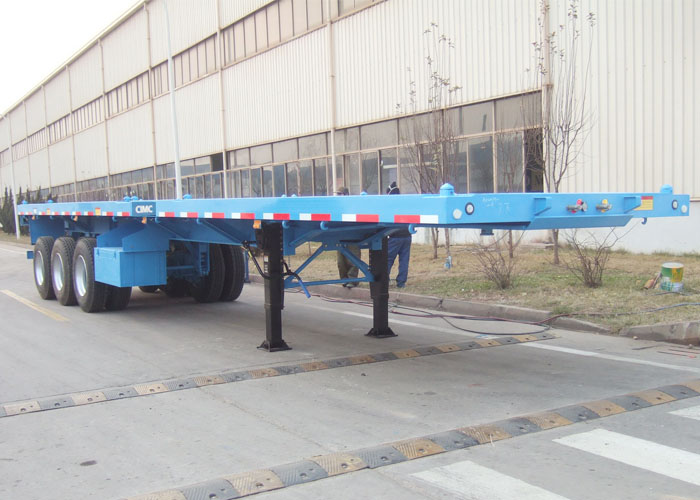 CIMC 20 ft flatbed trailer with iron stake 40 ft high bed semi trailer for container transportation