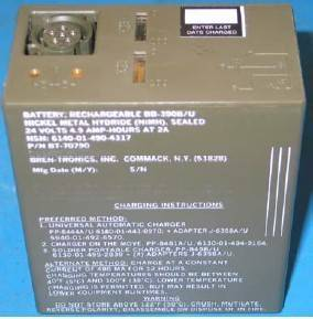 Rechargeable Nickel Hydride Military Battery BB-390 B/U