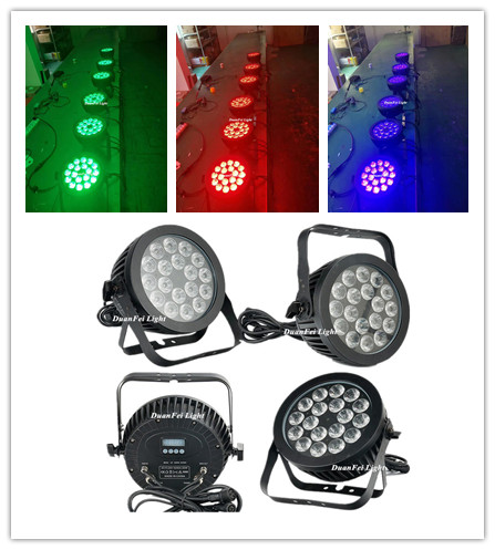 DMX led flat par waterproof led par rgbwauv 18x18w