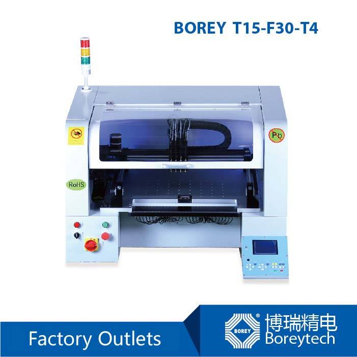 BOREY T15-F30-T4 Benchtop SMT Pick and Place Machine for PCB Manufacturer