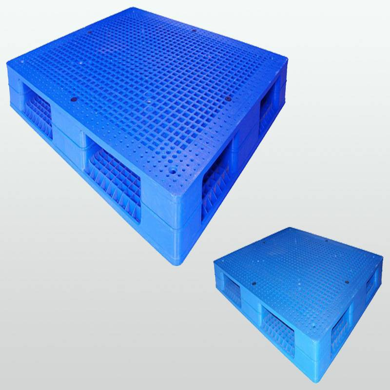 plastic pallet with double-faced.grid.stackable.1400*1200*150
