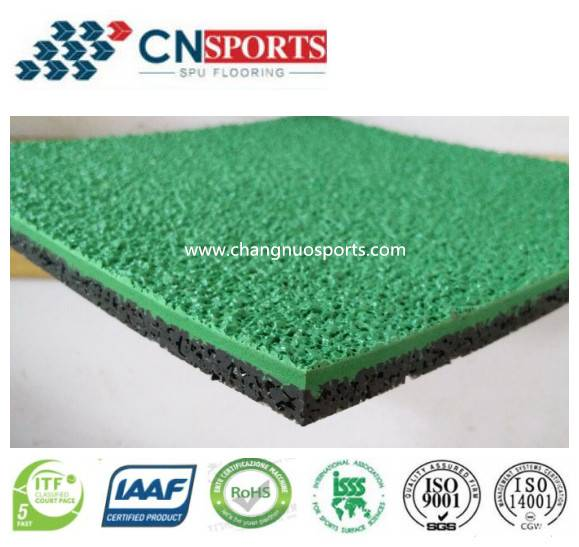 Permeable Self-Knot PU Running Track