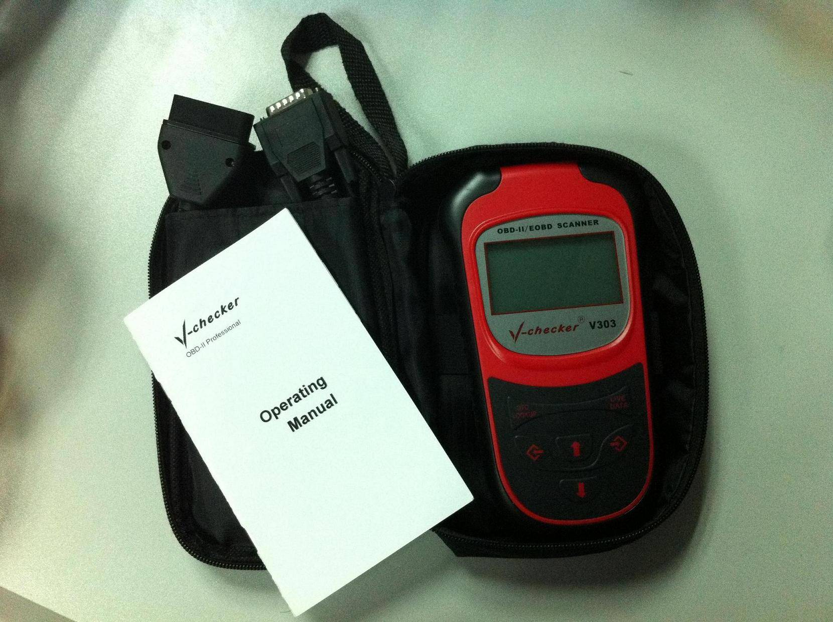 Newest OBDII/EOBD Code Scanner, OBD2 Car Diagnostic Tools, Vchecker V303 Automotive Accessory