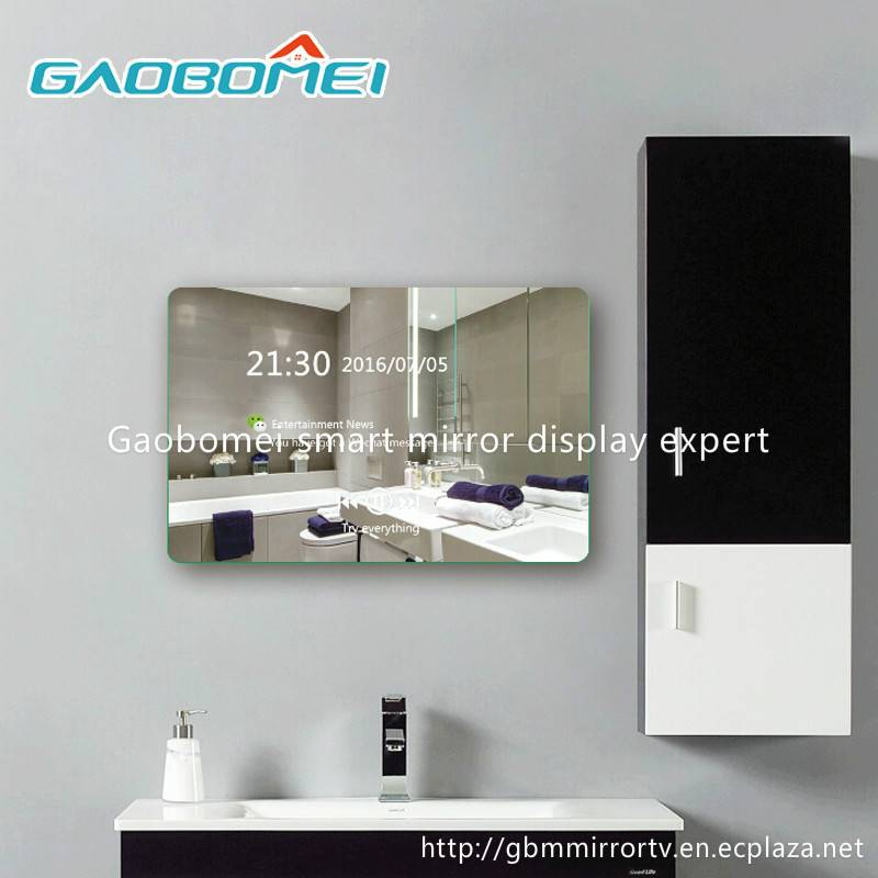 """Gaobomei 19"""" AD Smart Mirror Video advertising player magic mirror with ad management software/wifi"""