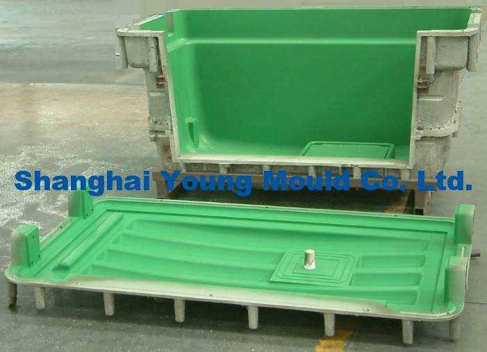 Rotational Mould for Box, Aluminum Molds for Rotational Molding, Case Roto Form