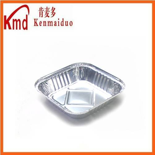 HOT SALE disposable and recyclable aluminum foil square dinner tray 1000pcs/ctn