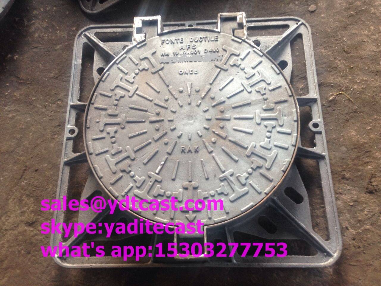 cast iron manhole cover in road C250 D400 in UK