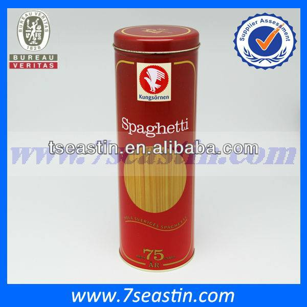 cylinder cookies package tin box