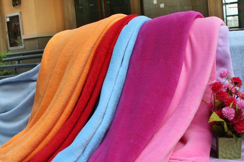 stock coral fleece blanket