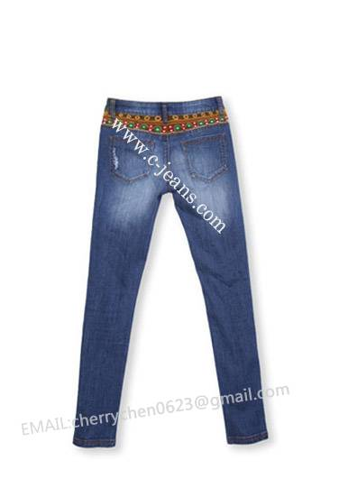 2014 New Design Fashionable Skinny Ladies Jeans, Cheap Wholesale Women Jeans