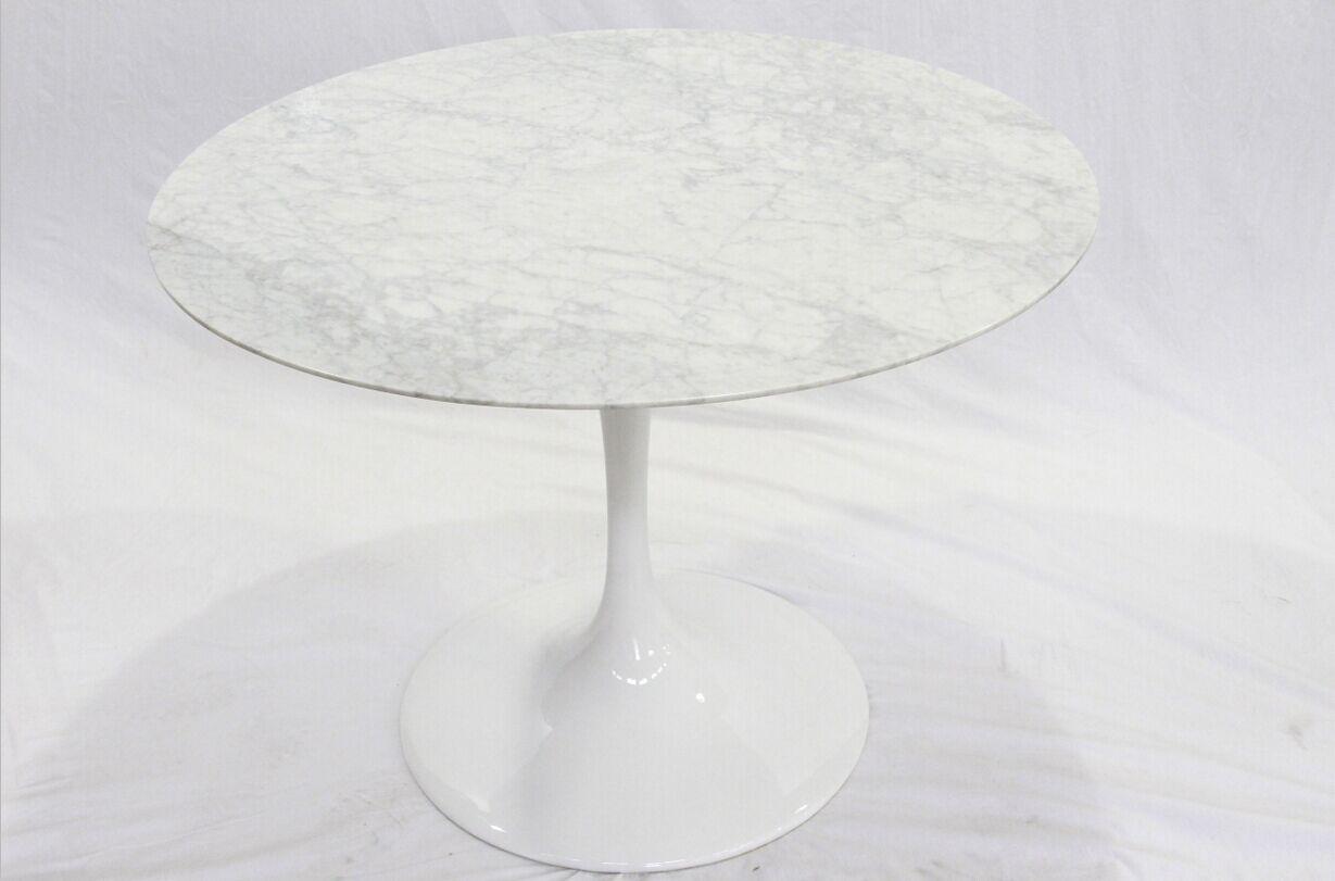 Modern Design Eero Saarinen Round Marble Tulip Dining Table White Marble Table Foshan Jiaohui Furniture Industry Co Ltd