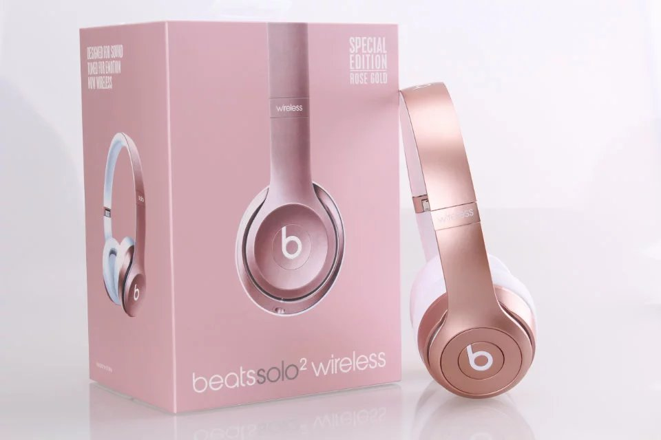 Beats Solo 2 Wireless Headphone Rose Gold