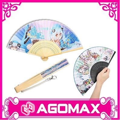 Bamboo Hand Held Folding Fan For Wedding Party Decor/Dancing Handheld Fan