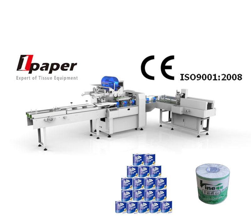 automatic roll toilet paper packing machine