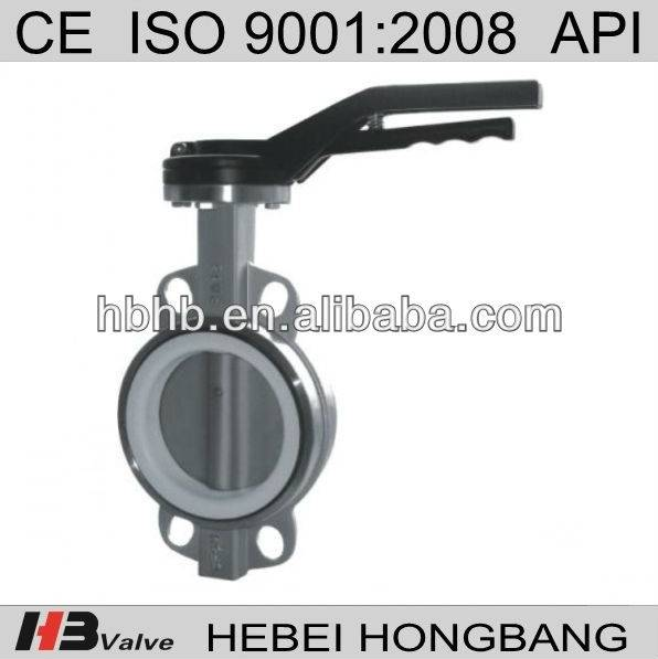 Handlever wafer butterfly valve dn200 made in china