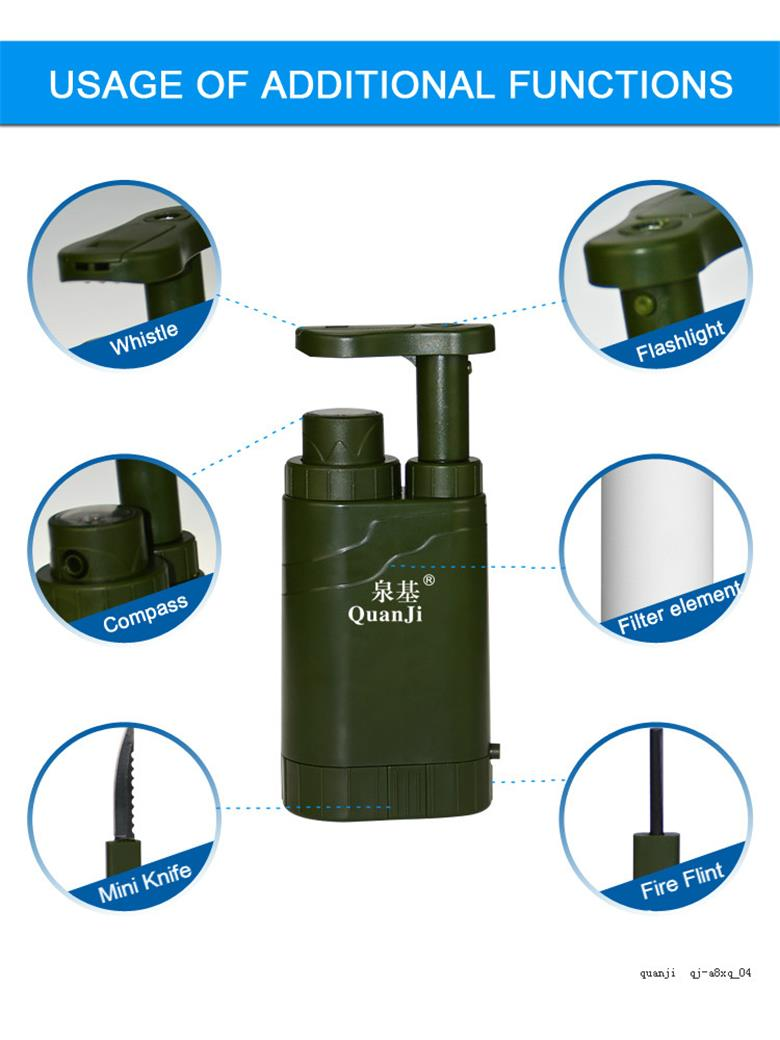 Mini Multi function outdoor water filter