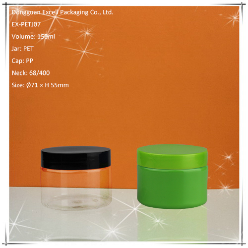 150ml Wide Mouth Cylinder PET Jar