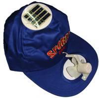 Solar power cap with mini fan