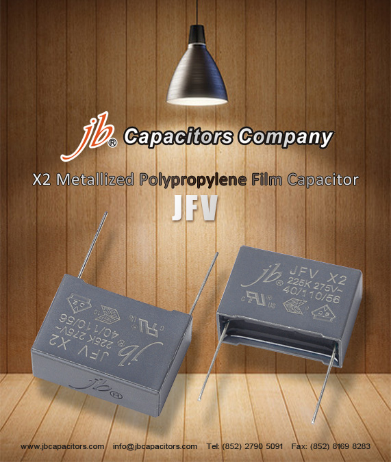 JFV -- X2 Metallized Polypropylene Film Capacitor (275VAC)