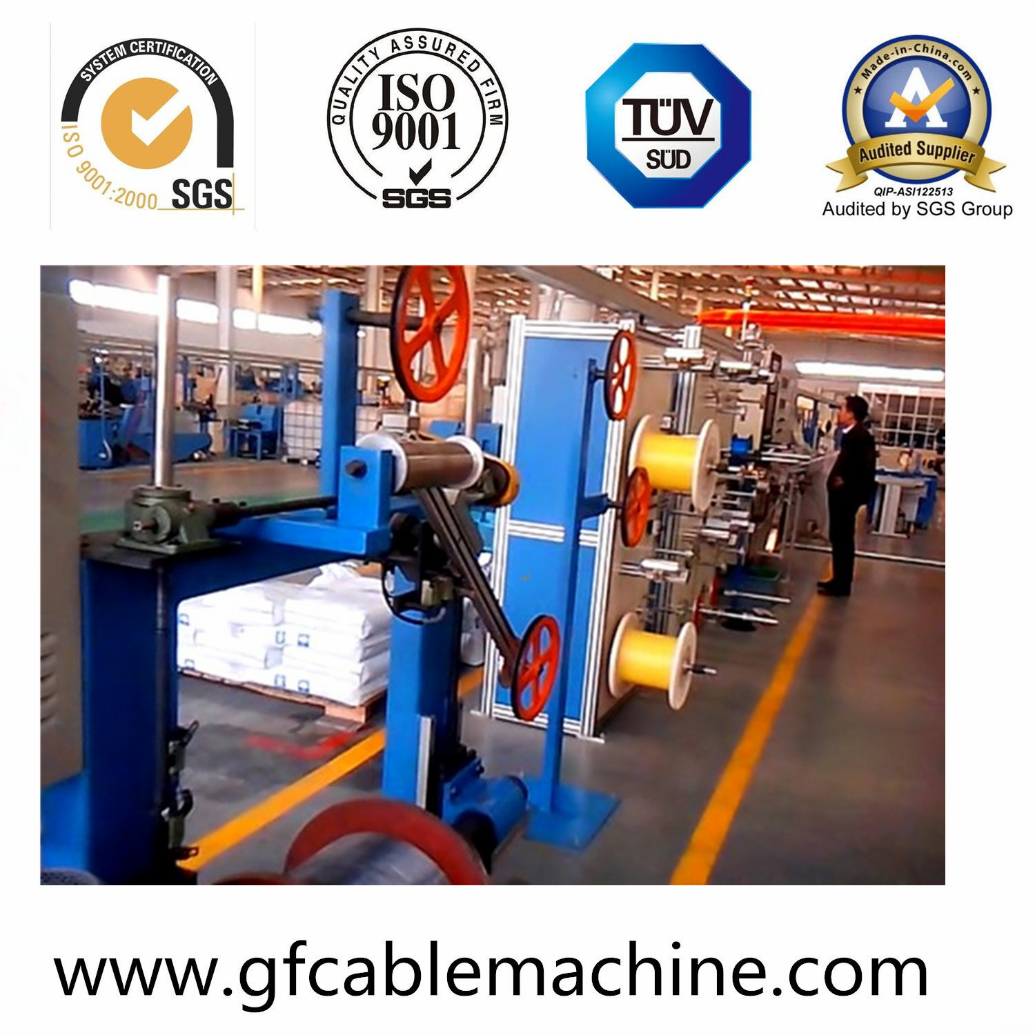 FTTH Drop Cable Machine with LSZH Material