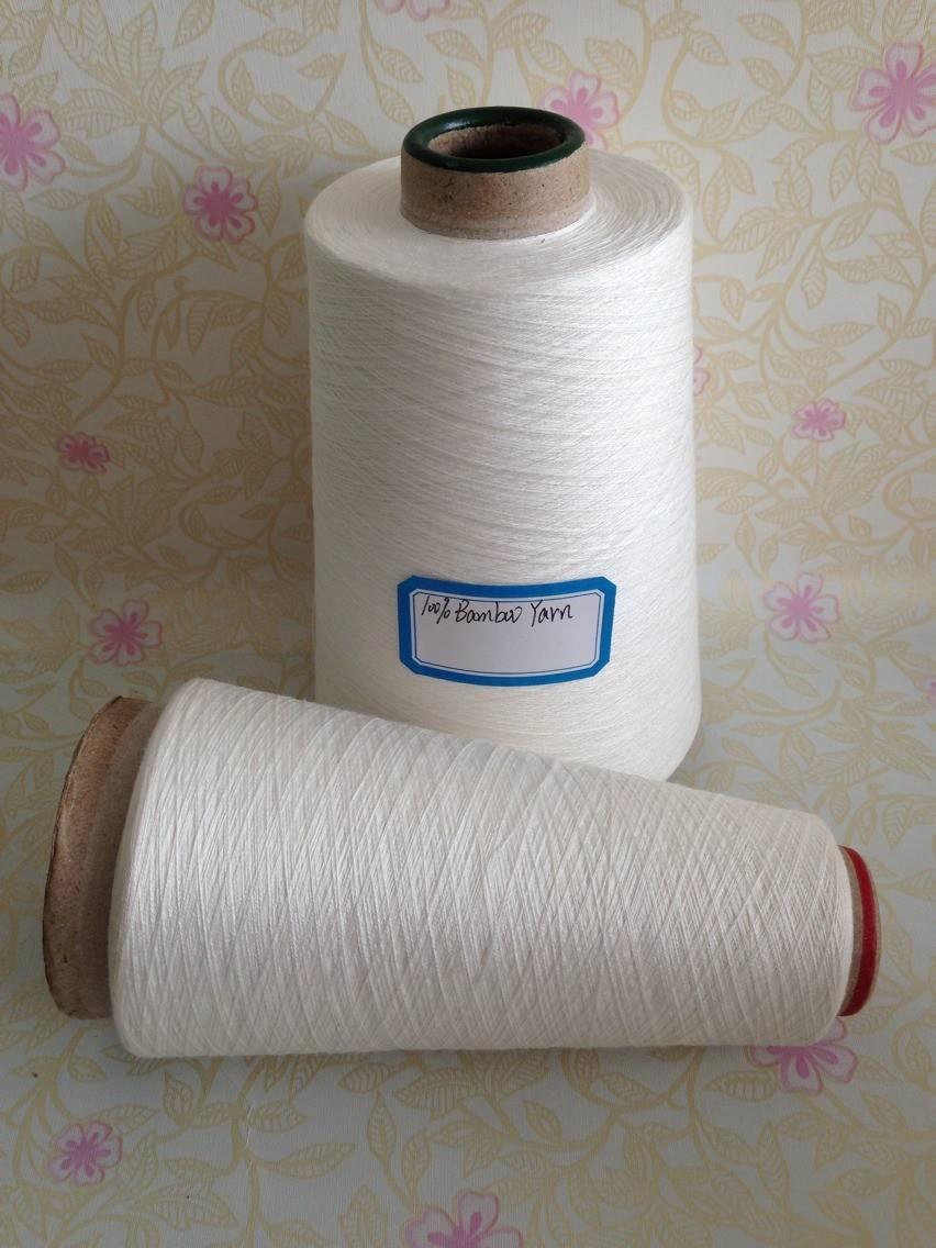 32s/1 100% Bamboo Yarn In Raw White