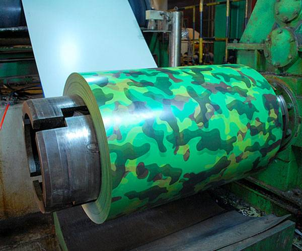 Color coated plate