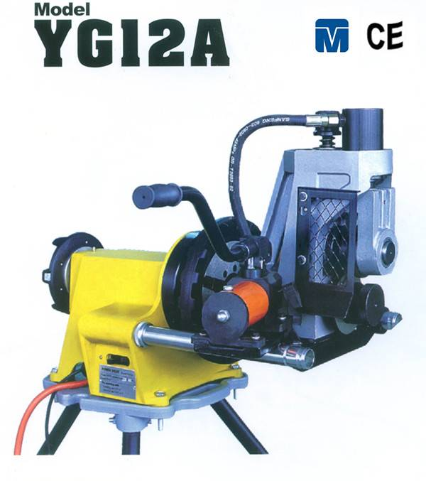 Hydraulic pipe roll grooving machine YG12A with 12'' grooving capacity
