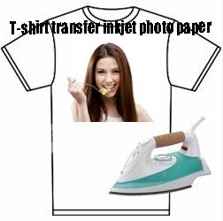 T-shirt heat transfer inkjet photo paper